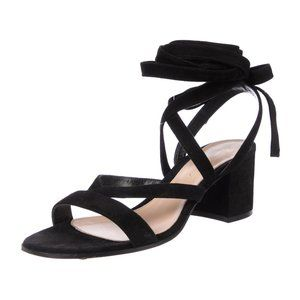GIANVITO ROSSI Janis Low Lace-Up Sandals Size: 39